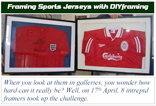 Framing Sports Shirts 2008