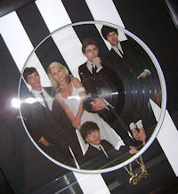 Close up of picture disc.