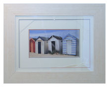 Beach huts in driftwood