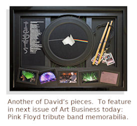 Pink Floyd tribute band memorabilia framed by David Wilkie.
