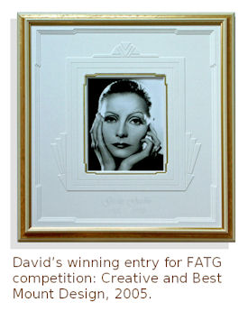 Great Garbo, framed.  FATG winning piece 2005