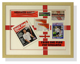 Another winning combination from David: England football memorabilia.