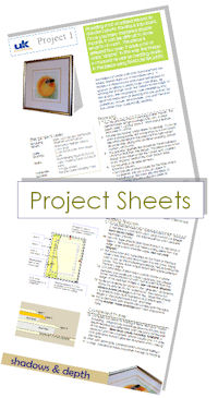 Free to download: picture framing project sheets.