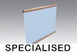 Specialised: paper rail, whiteboard, posters