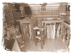 A purpose built workshop for small framing business.