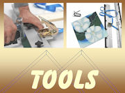View our range of canvas tools and equipment