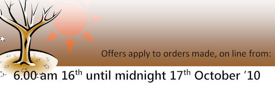 Offers valid from 6.00 am 16th - midnight 17th Oct